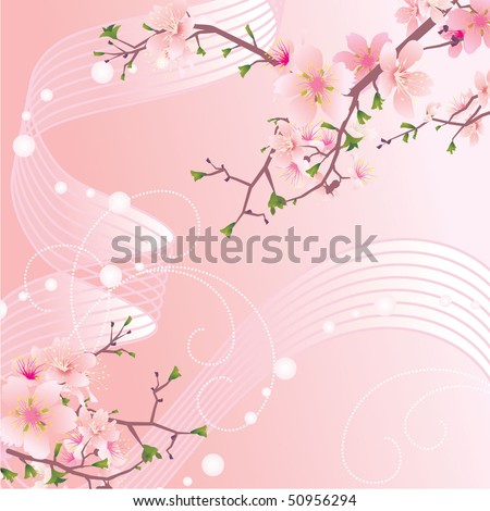 sakura wave abstract background