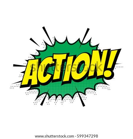 Sale Action Comic Text Speech Bubble Stock Vector ...