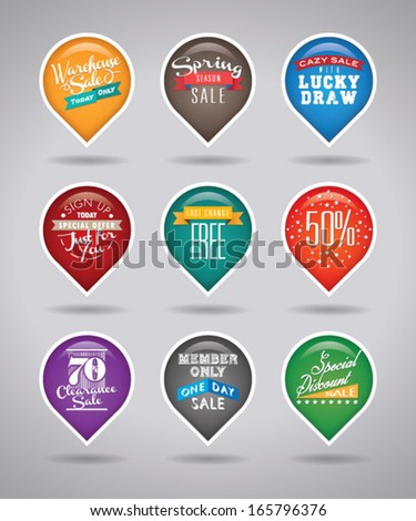Sale and Promo pointer - stock vector