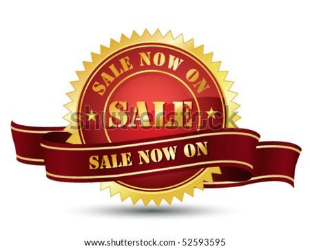 Sale award - stock vector