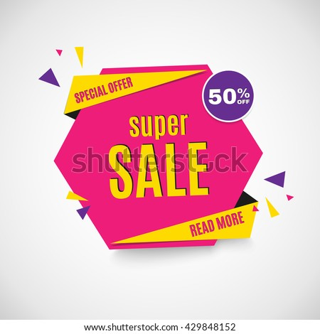 Sale banner. - stock vector