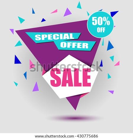 Sale banner - stock vector