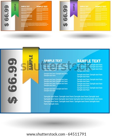 Sale banner collection - stock vector