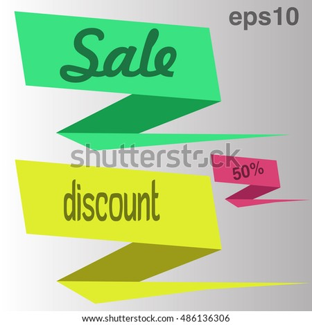 Sale banner design. Set of banners