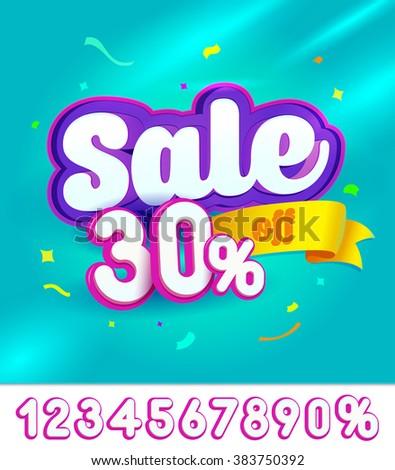 Sale banner design. Vector illustration - stock vector