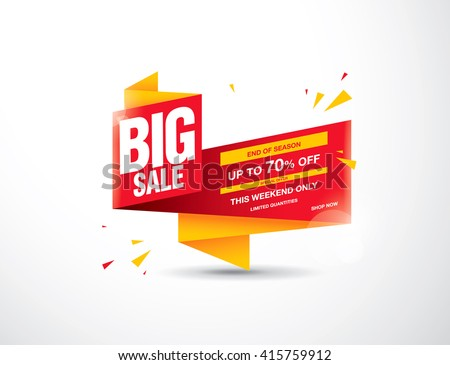 sale banner template design - stock vector