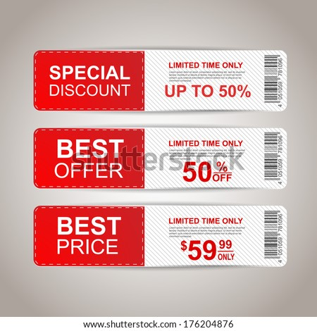 Sale banners - stock vector