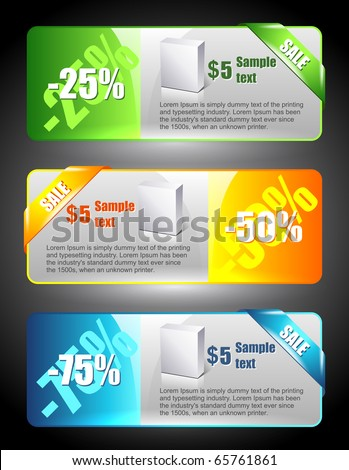 Sale banners. Marketing illustration. Price sign. Discount template. - stock vector