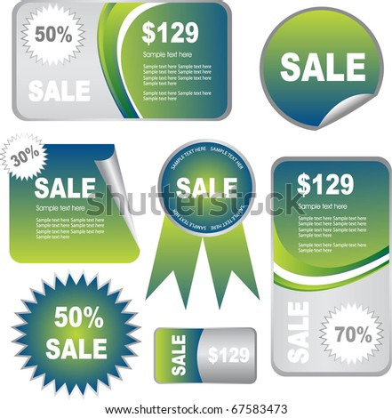 sale banners tags and stickers - stock vector