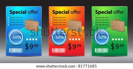 Sale banners-vector - stock vector