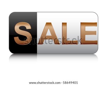sale button - stock vector