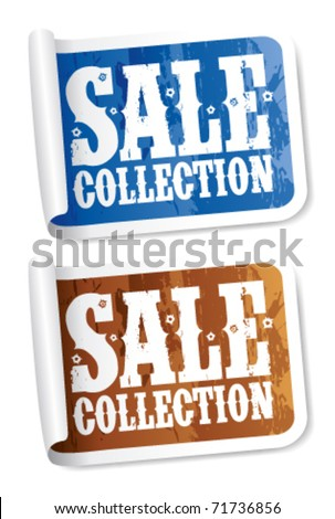 Sale collection stickers set
