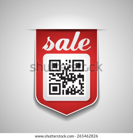 Sale coupon with QR-Code - stock vector