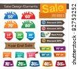 sale design elements - stock vector