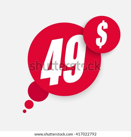 Sale design - Price tag - Speech bubble design - stock vector