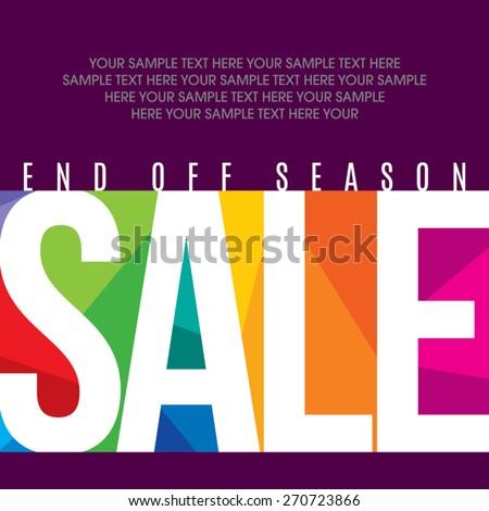 Sale design template vector - stock vector