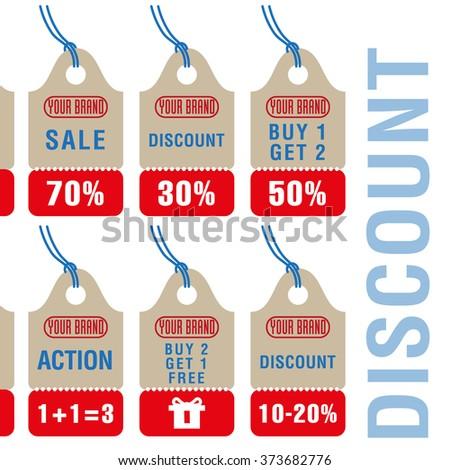 Sale  discount labels set in vector - stock vector