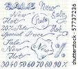sale doodles - stock vector