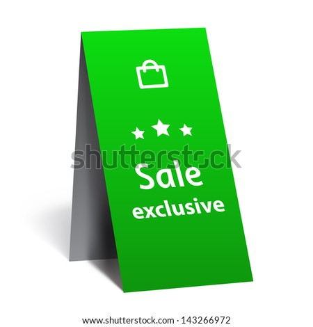 Sale exclusive, promotion plate - stock vector