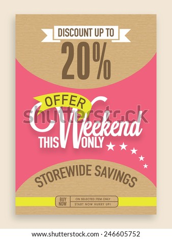 Sale flyer, banner or template with limited offer. - stock vector