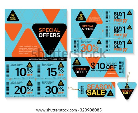 Sale Flyer Promotions Coupon Banner Design Stock Vector 320908085