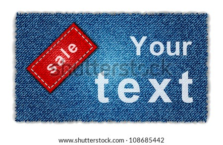 Sale jeans banner - stock vector