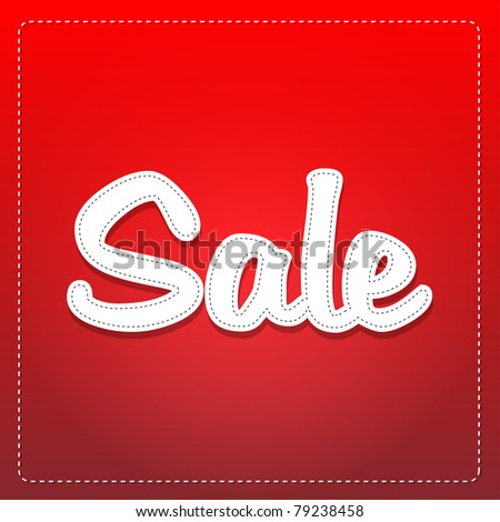 sale label - stock vector