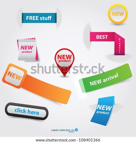 Sale label collection. Vector - stock vector
