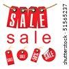 Sale label set - stock vector