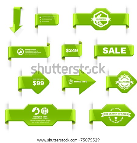Sale label. Special offer tags and badges. Best coupon for advertising. - stock vector