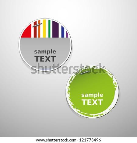 Sale label vector designs - stock vector