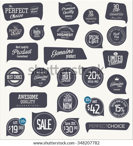 Sale Labels collection - stock vector