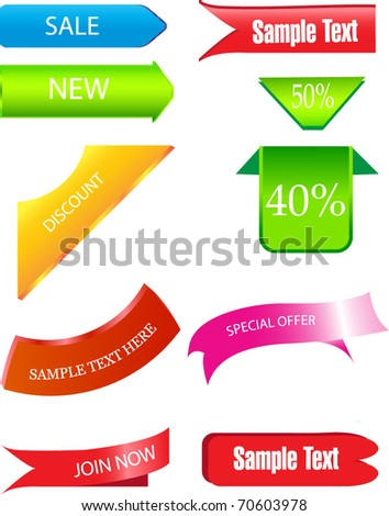 sale labels or tags