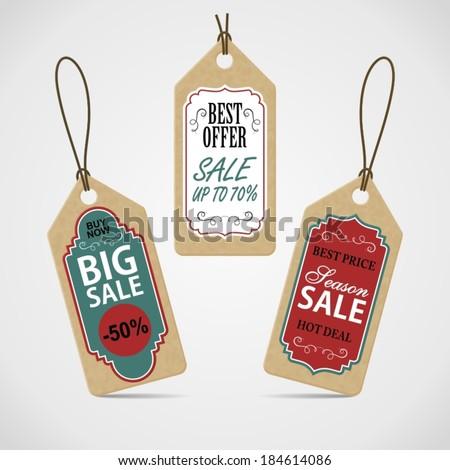 Sale labels set. - stock vector