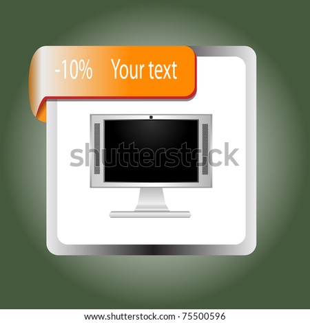 Sale or discount tags for price list, 10eps - stock vector