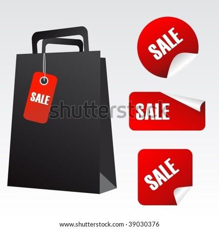 sale poster vector - stock vector
