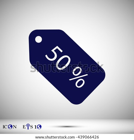 Sale price tag icons. Discount special offer symbols.50% percent - stock vector