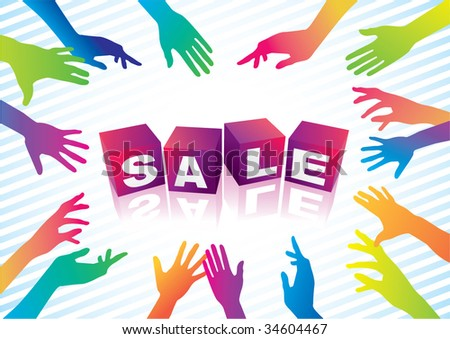 sale promote!! - stock vector