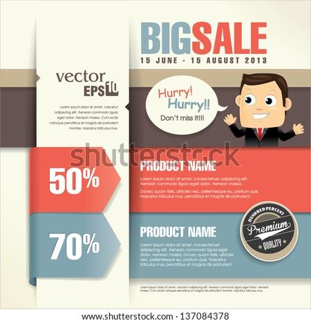 Sale Promotion Design Template Vector 137084378 Shutterstock – Sale Flyer Design