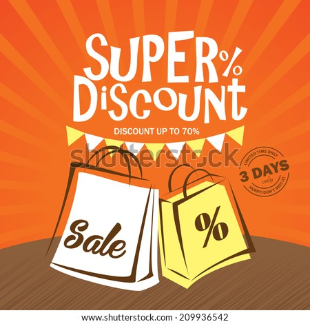 Sale Promotion Poster - stock vector
