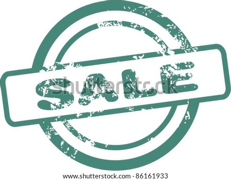 Sale rubber stamp - stock vector