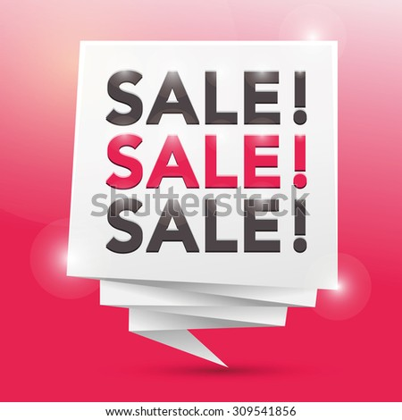 sale sale sale, poster design element - stock vector