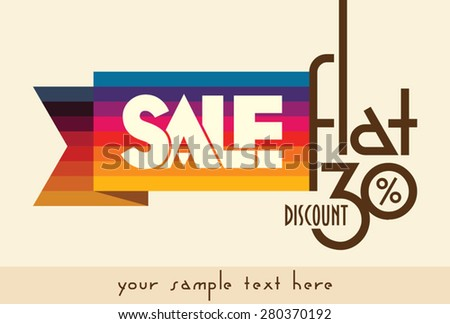 Sale shopping background and label for business promotion   - stock vector