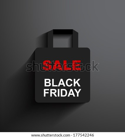 SALE shopping bag Black Friday with copy space