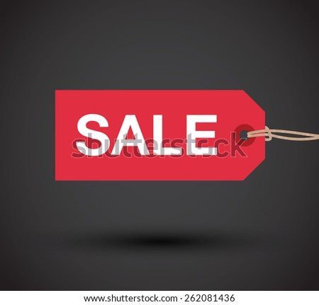 sale sign - stock vector