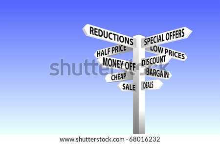 Sale Sign Post