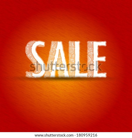 SALE sketch background - stock vector