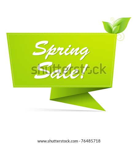 Sale Spring Banner, Isolated On White Background, Vector Illustration - stock vector