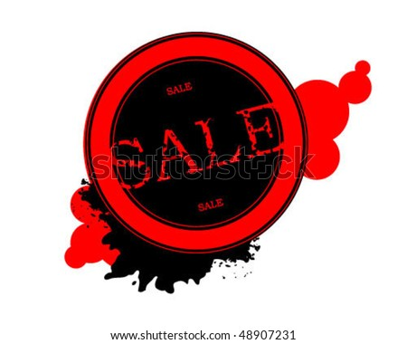 Sale stamp - stock vector