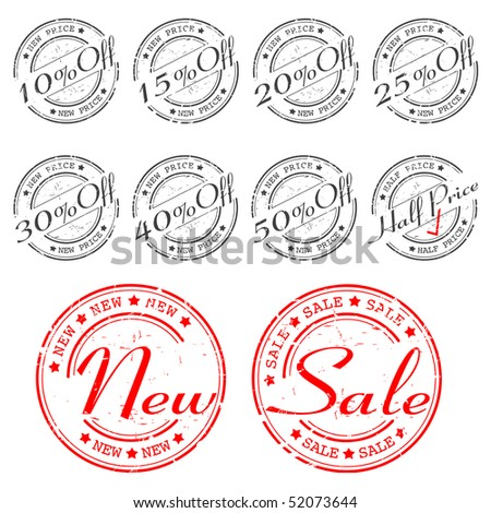 SALE stamp - vector set - stock vector
